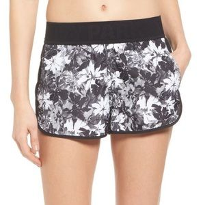 IVY PARK Black and White Floral Running Shorts